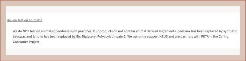 elf cosmetics animal policy