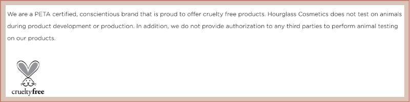 hourglass cosmetics animal policy