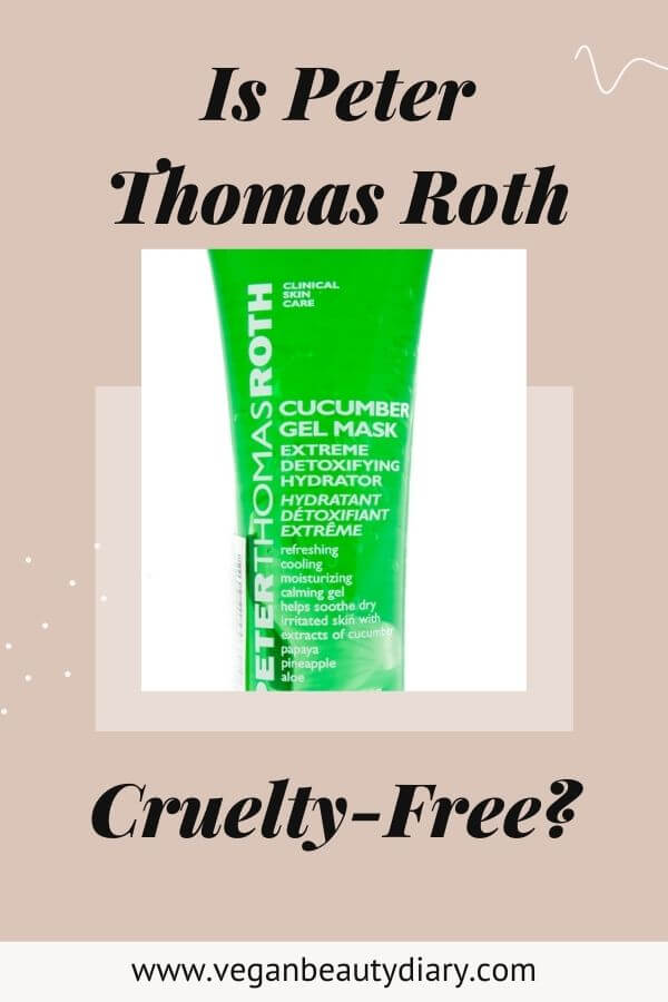 is peter thomas roth cruelty-free