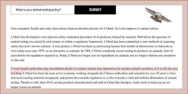 kiehls animal testing policy